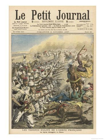 The French Foreign Legion in in Action in Morocco Giclee Print