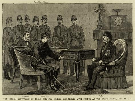 The French Occupation of Tunis Giclee Print