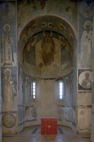 The Frescoed Apse of the Cathedral (1516) of the Transfiguration Monastery of the Savior (Spaso-Pre Photographic Print
