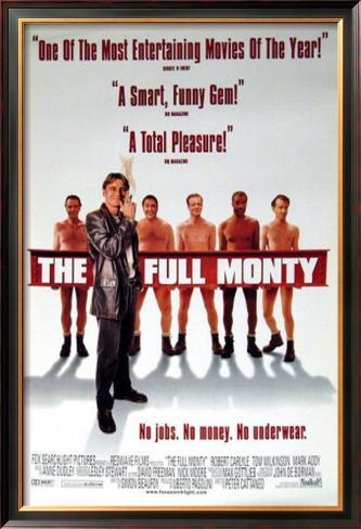 The Full Monty Pôster emoldurado