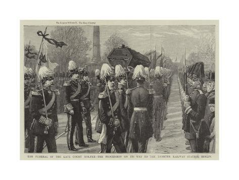 The Funeral of the Late Count Moltke Giclee Print