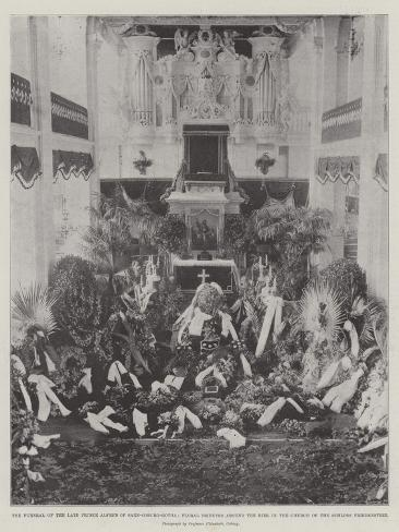 The Funeral of the Late Prince Alfred of Saxe-Coburg-Gotha Giclee Print