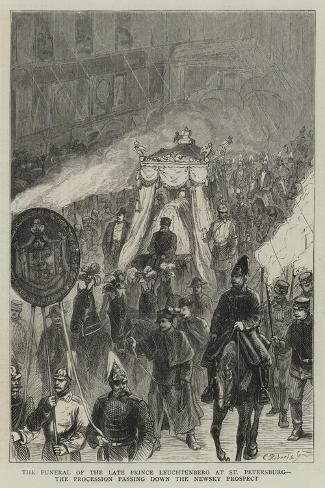 The Funeral of the Late Prince Leuchtenberg at St Petersburg Giclee Print