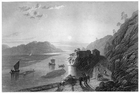 The Ganges Entering the Plains Near Hurdwar, India, C1860 Giclee Print