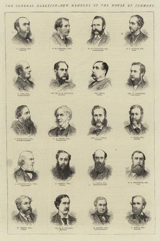 The General Election, New Members of the House of Commons Giclee Print