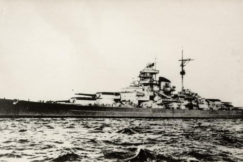 the german battleship bismarck of the german kriegsmarine during