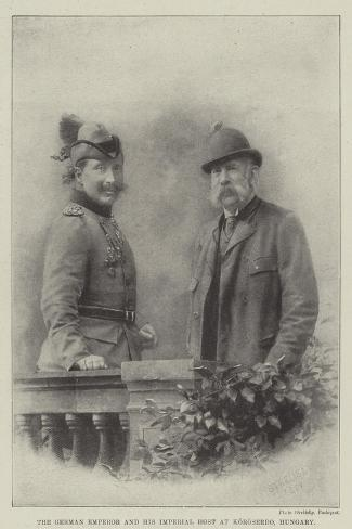 The German Emperor and His Imperial Host at Koroserdo, Hungary Giclee Print