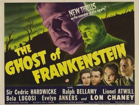 The Ghost of Frankenstein, 1942 Art Print