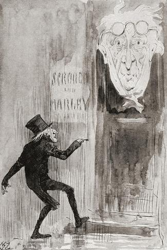 The Ghostly Knocker. It Was Not Angry or Ferocious Stampa giclée