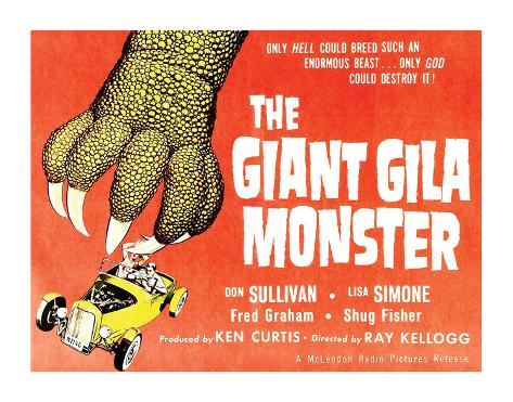 The Giant Gila Monster - 1959 Giclee Print