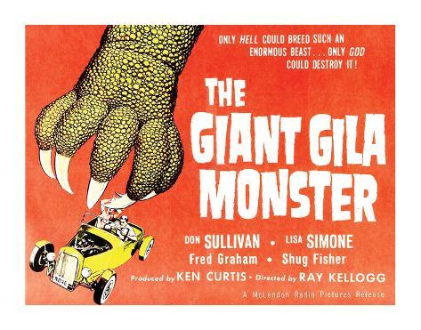 The Giant Gila Monster - 1959 Lámina giclée