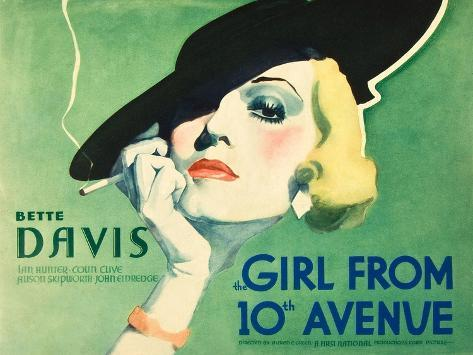 The Girl From 10th Avenue, Bette Davis on title card, 1935 Art Print
