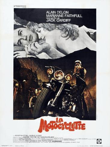 THE GIRL ON A MOTORCYCLE (aka LA MOTOCYCLETTE) Art Print