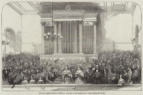 The Gloucester Musical Festival, Concert in the Shire-Hall Giclee Print