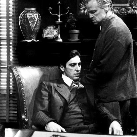 The Godfather, Al Pacino, Marlon Brando, 1972 Foto