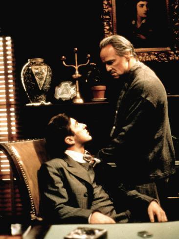 The Godfather, Al Pacino, Marlon Brando, 1972 Photo