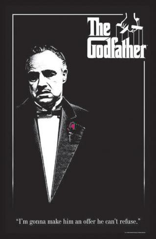 The Godfather - Red Rose Blacklight Poster