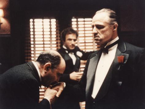 The Godfather, Salvatore Corsitto, James Caan, Marlon Brando, 1972 Photo
