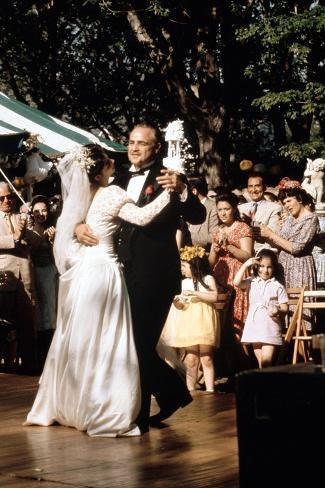 The Godfather, Talia Shire, Marlon Brando, 1972 Photo