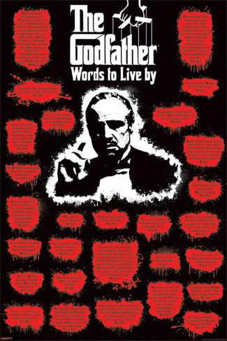 The Godfather - Words to Live Poster