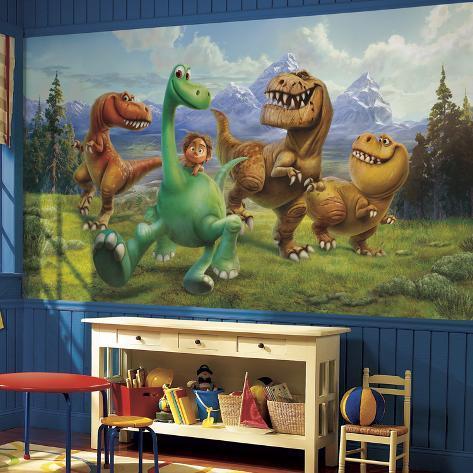 The Good Dinosaur XL Chair Rail Prepasted Mural Wallpaper Mural