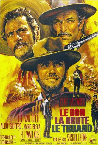 The Good, The Bad and The Ugly - French Style Poster