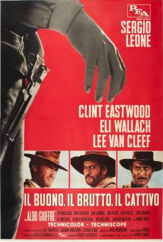 The Good, The Bad and The Ugly - Italian Style Poster