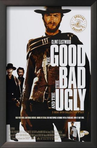 The Good, The Bad and The Ugly Impressão artística emoldurada