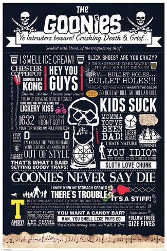The Goonies - Typographic Poster