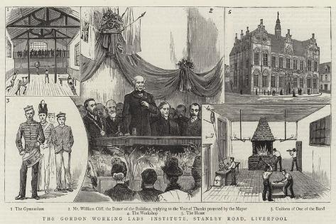 The Gordon Working Lads Institute, Stanley Road, Liverpool Giclee Print