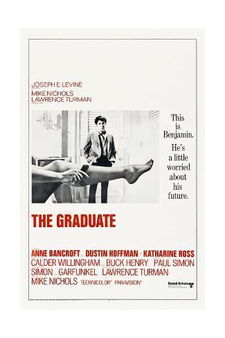 The Graduate, Dustin Hoffman, 1967 Stampa artistica