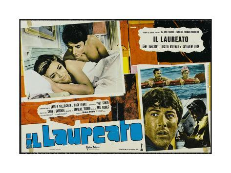 The Graduate, Italian Movie Poster, 1967 Impressão artística