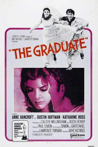 The Graduate, Katharine Ross, Dustin Hoffman, 1967 Impressão artística