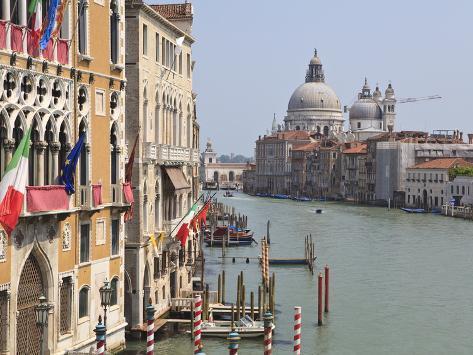 The Grand Canal and the Domed Santa Maria Della Salute, Venice, Veneto, Italy Photographic Print