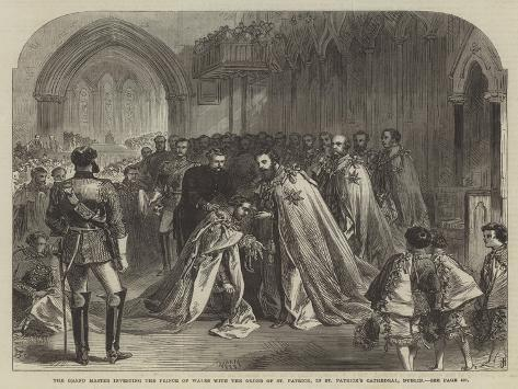 The Grand Master Investing the Prince of Wales with the Order of St Patrick Giclee Print