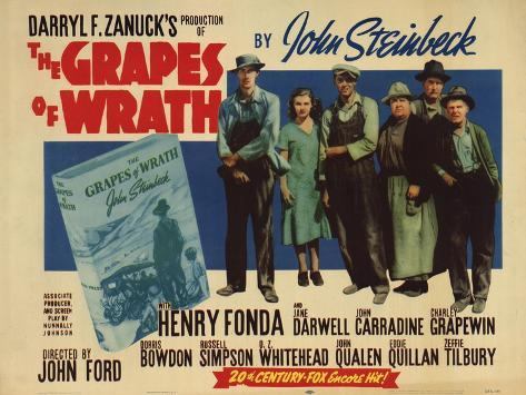 The Grapes of Wrath, 1940 Art Print