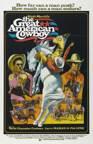 The Great American Cowboy Stampa master