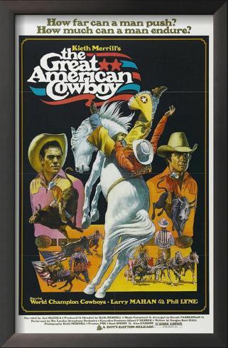 The Great American Cowboy Impressão artística emoldurada