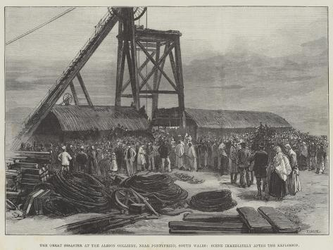 The Great Disaster at the Albion Colliery Giclee Print