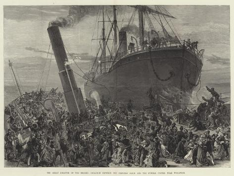 The Great Disaster on the Thames Giclee Print