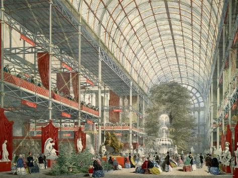 The Great Industrial Exhibition of 1851, Showing Interior of Crystal Palace Photographic Print