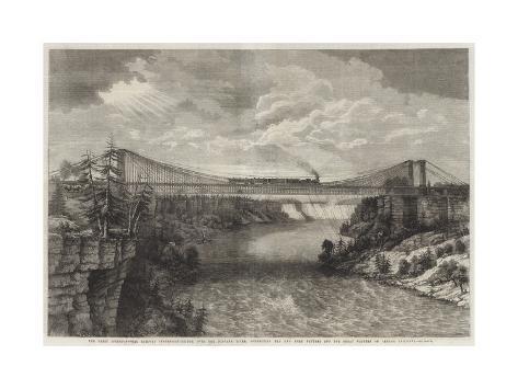 The Great International Railway Suspension-Bridge over the Niagara River Giclee Print