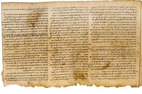 The Great Isaiah Scroll, Columns 28-30, Qumram Cave I, C.100 BC Lámina giclée