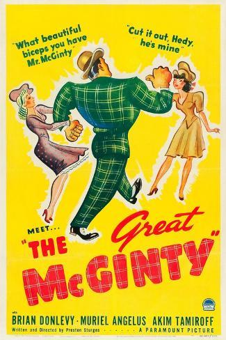 THE GREAT MCGINTY, US poster art, 1940. Art Print