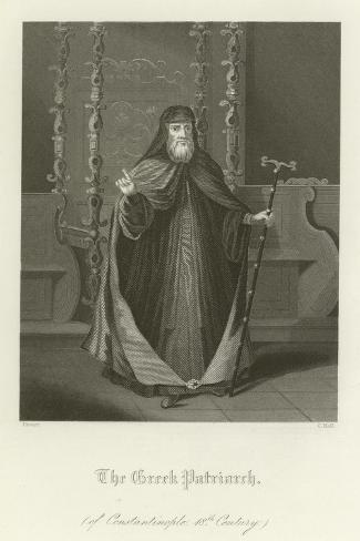 The Greek Patriarch of Constantinople, 18th Century Lámina giclée