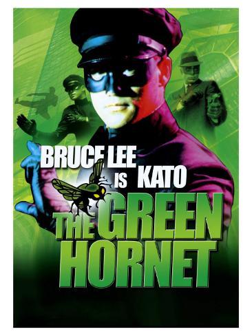 The Green Hornet, UK Movie Poster, 1966 Impressão artística