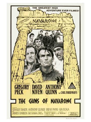 The Guns of Navarone, Australian Movie Poster, 1961 Stampa artistica