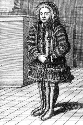 The Habit of a Lapland Woman, 19th Century Stampa giclée