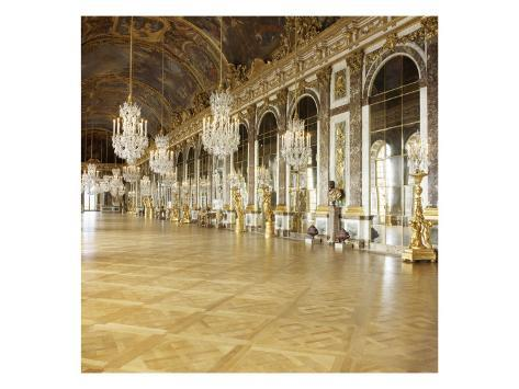The Hall of Mirrors (State after Restoration in 2007) Stretched Canvas Print