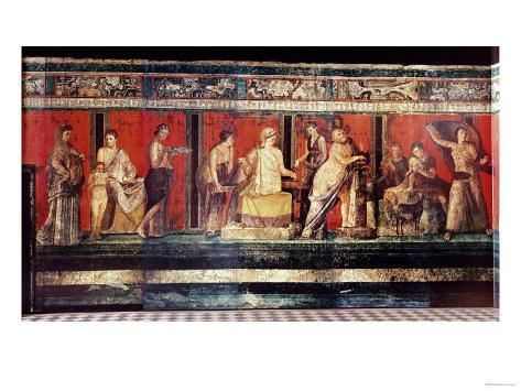 The Hall of Mysteries, Pompeii, 79 AD Giclee Print